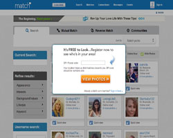 match.com sign in page
